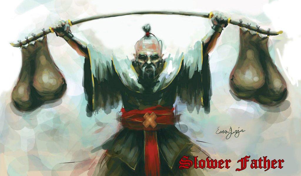 """Slower Father"" album cover. From Greek metal band Motherfaster."